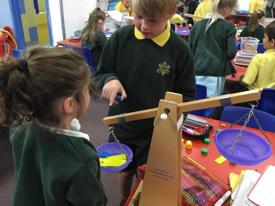 Y2 - Mass - exploring with balance and dial scales.