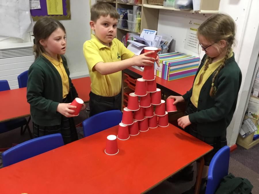 Science Week - building the tallest tower with secure foundations.
