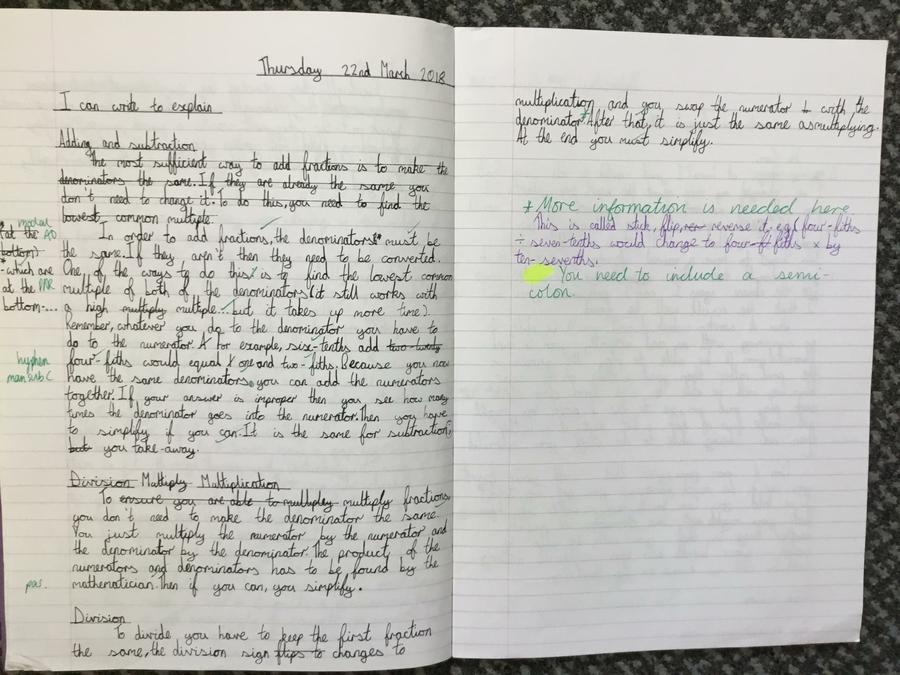 Writing about Maths - Y6