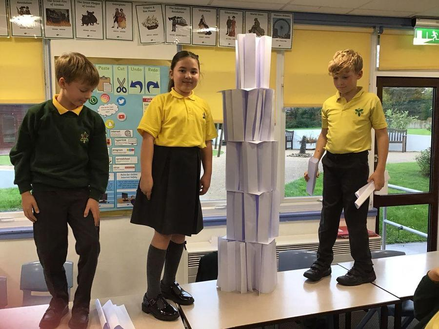 Y4 - Building paper skyscrapers