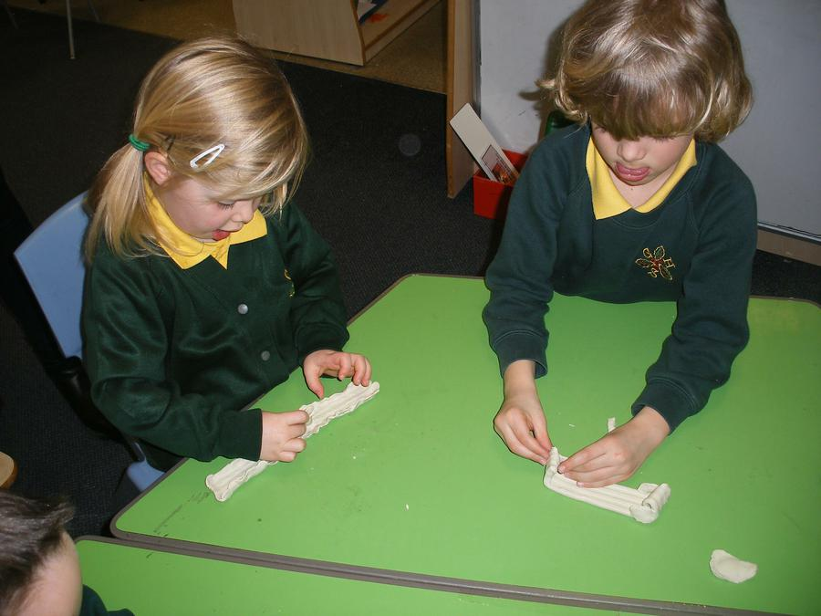 Designing and creating boats from plastercine