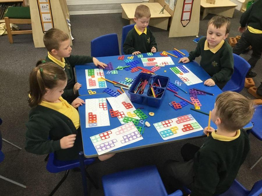 YR - Numicon to support number bond work.