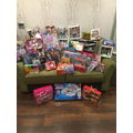 The gifts donated to Mission Christmas