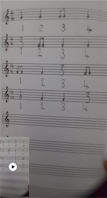 Y5 - Notation and composition work.