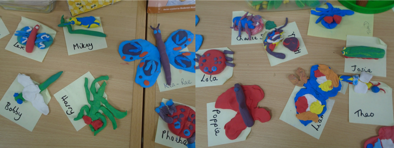 Air clay minibeasts.