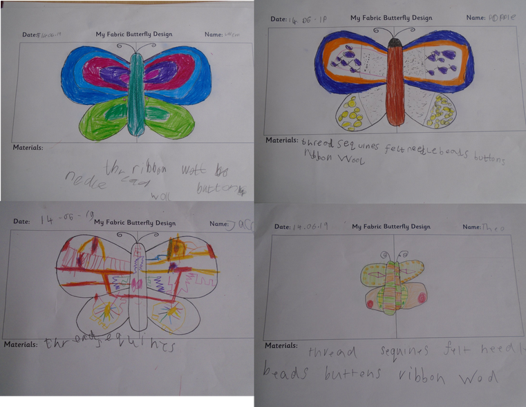 Designs for felt butterflies.