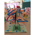 Y2 Penguins 3D tree sculptures