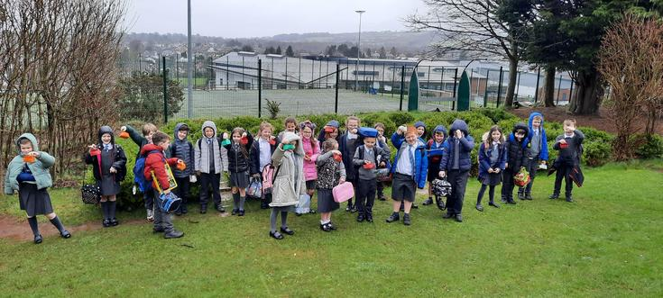 The end of a very wet Easter egg hunt!