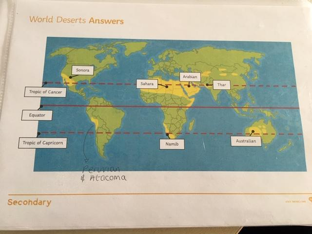 Deserts of the World Answers