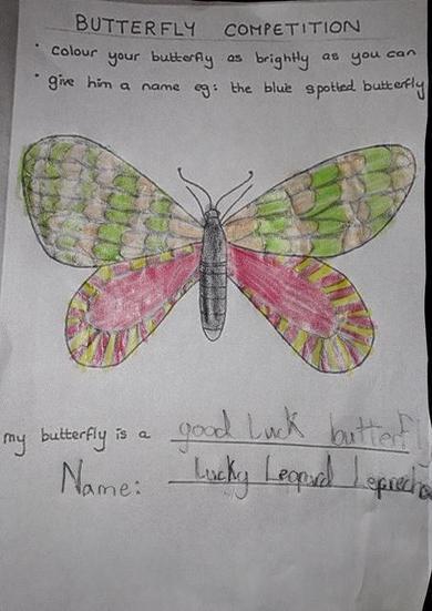Eva's Lucky Leopard Leprechaun butterfly!