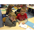 We made picture books for the P1's.