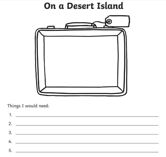 Desert Survival Kit List Activity