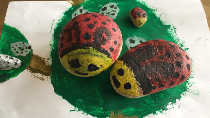 Alba's ladybird stones.
