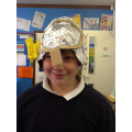 """I used cardboard, kitchen foil and sello tape."""