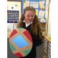 """I drew around a plate to make the circle shape."""