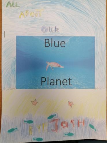 Our Blue Planet Scrap Books.
