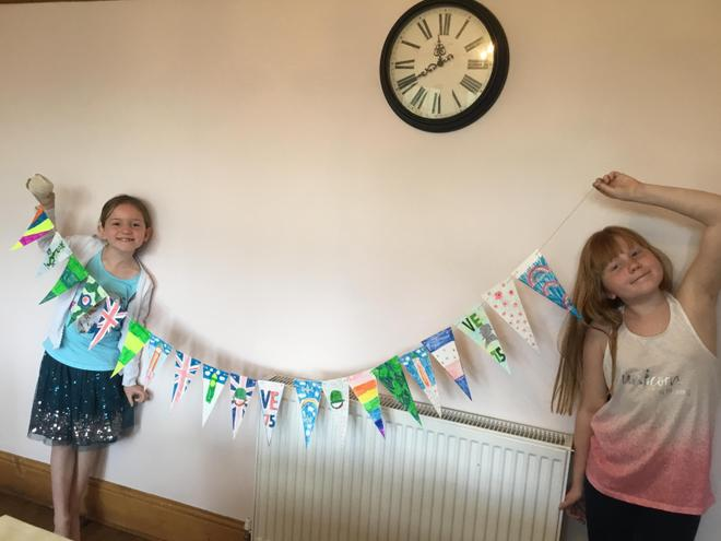 Ella and Evie's wonderful VE day bunting!