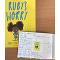 Picture book friday this week was based on the book 'Ruby's Worry'.