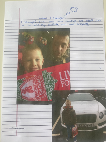 Riley's fab recount of his trip to Anfield.
