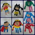 Superhero handprint example