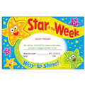 I've picked two children for star of the week this week.