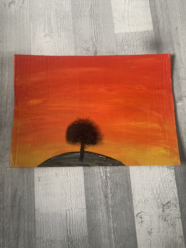 A wonderful sunset painting by Emy-Leigh