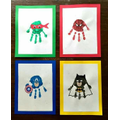 Superhero handprint example