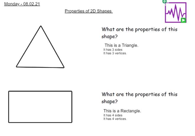 Hayden and Lauren - Properties of 2D Shapes