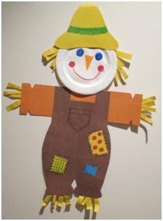 Scarecrow art - use different papers and materials to create your own scarecrow