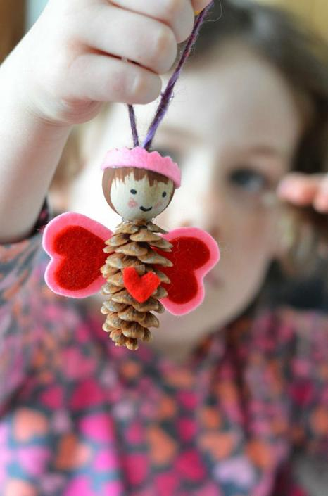 Pinecone fairy - find pinecones in your local park and create a fairy!