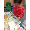 We designed our own Jackson Pollock T-shirts