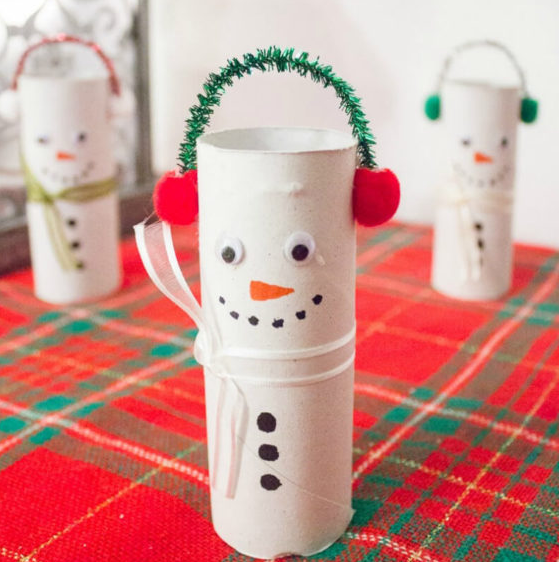 Toilet Roll Snowman