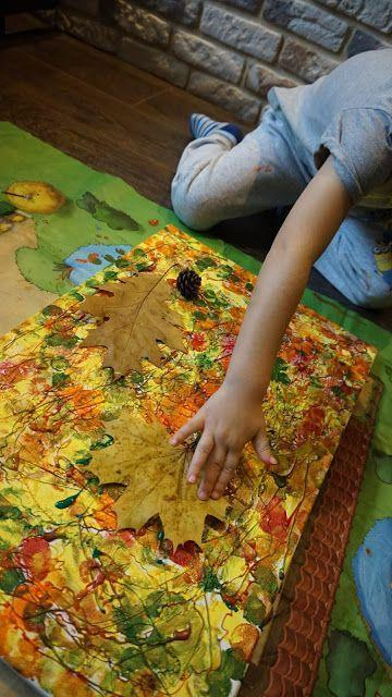 Leaf printing - collect autumn leaves and print with paint