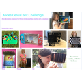 Alice's cereal box challenge