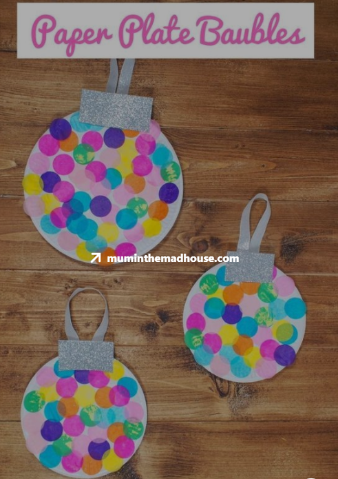 Paper Plate baubles