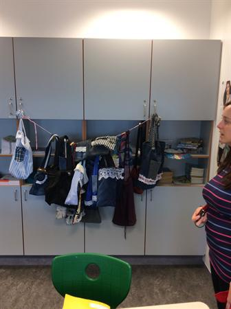 Recycling jeans and clothes to make bags