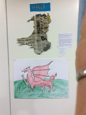 Pupil work on Wales