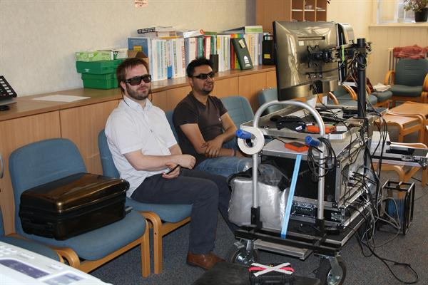 The 3D technicians working in the Staff Room