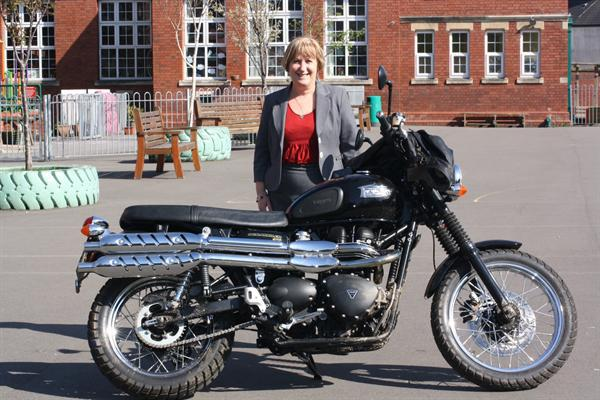 Mrs Brereton takes a closer look at the stunt bike