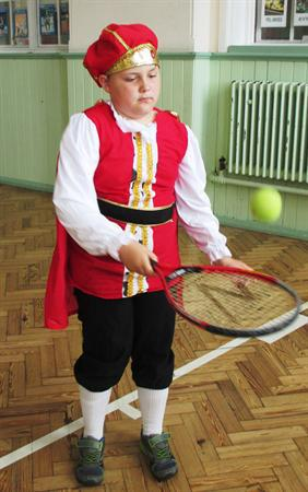Henry wins the tennis!