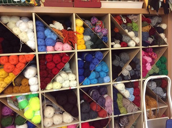 Vibrant colours of Icelandic wool.