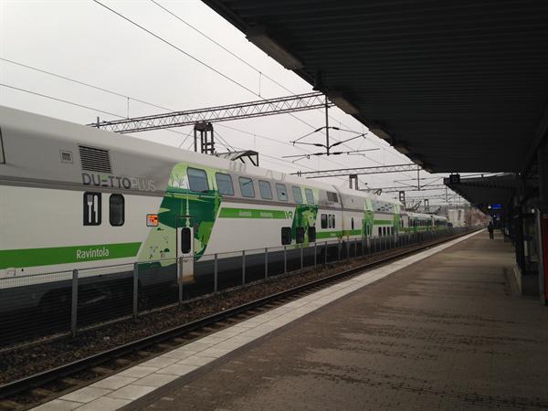Double decker trains.