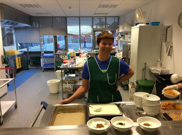 The Icelandic Mrs Middleton serving hot breakfast.