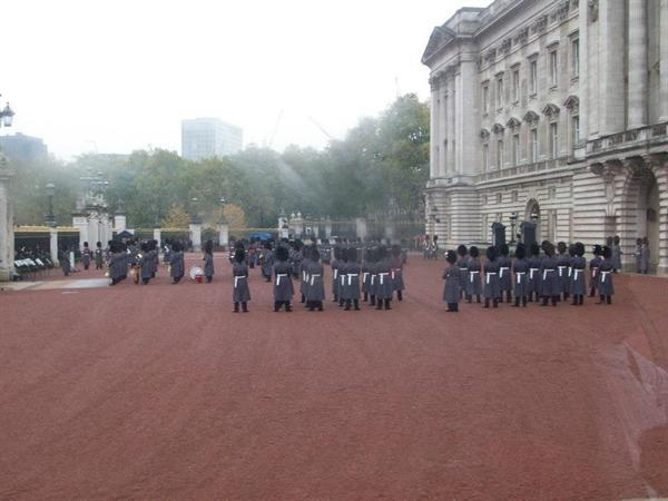 An inside view of the changing of the guard
