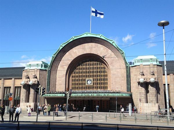 Helsinki Train Station. Very imposing.