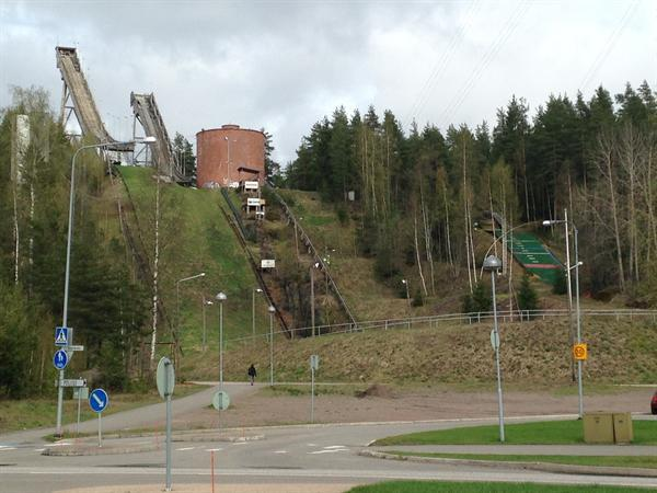 Ski jumps in Kouvola