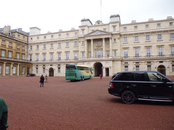 Our luxury coach in the inner court yard