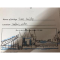 Y2 Bubble: Lena - Beautiful drawing of Tower Bridge in London!