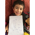 Elm:  Jack B - completing his RWI spelling lessons