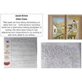 Alder:  Jacob- excellent descriptive writing using senses and conjunctions!